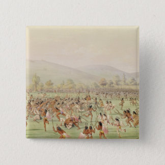 The Indian Ball Game, c.1832 15 Cm Square Badge
