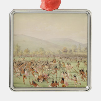 The Indian Ball Game, c.1832 Christmas Ornament