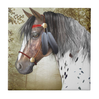 The Indian Pony Small Square Tile