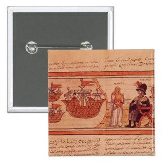 The Indian princess Malinche or Dona Marina 15 Cm Square Badge