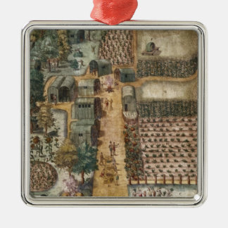 The Indian village of Secoton, c.1570-80 Christmas Ornament