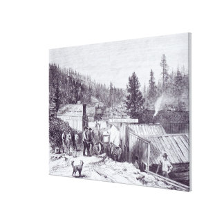 The Indian War Deadwood City Gallery Wrap Canvas