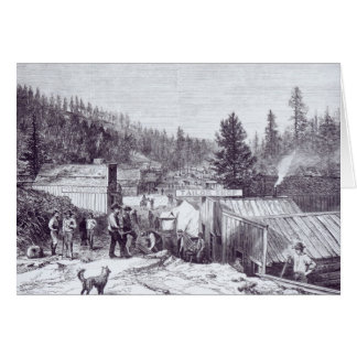 The Indian War Deadwood City Greeting Cards