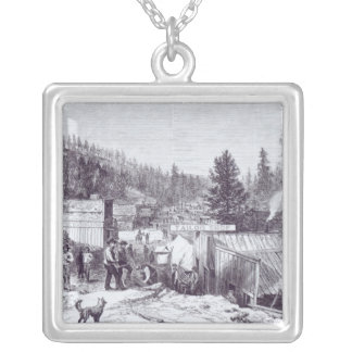 The Indian War, Deadwood City Silver Plated Necklace