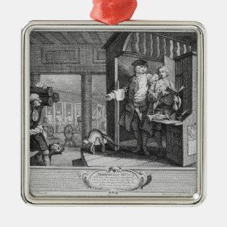 The Industrious 'Prentice a Favourite Silver-Colored Square Decoration
