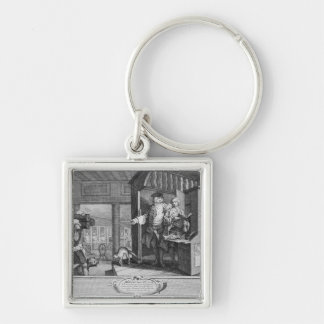The Industrious 'Prentice a Favourite Silver-Colored Square Key Ring