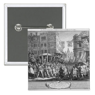 The Industrious 'Prentice Lord Mayor of London 15 Cm Square Badge