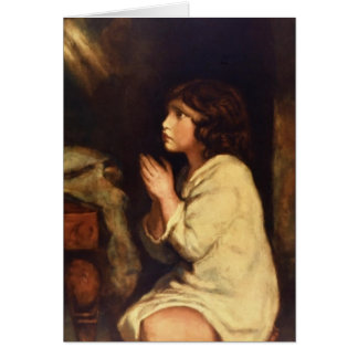 The Infant Samuel at Prayer  by Joshua Reynolds Greeting Card