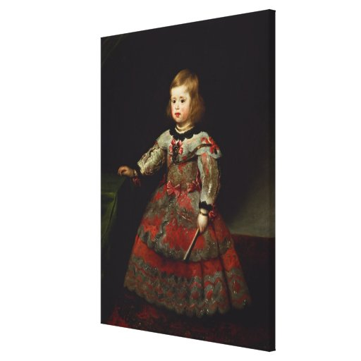 The Infanta Maria Margarita  of Austria Stretched Canvas Print