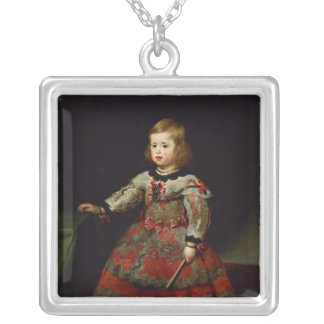 The Infanta Maria Margarita  of Austria Silver Plated Necklace