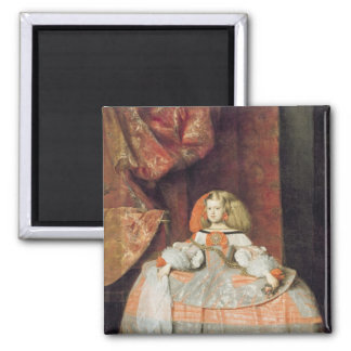 The Infanta Maria Marguerita  in Pink Square Magnet