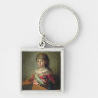 The Infante Don Francisco de Paula Antonio, 1800 ( Silver-Colored Square Key Ring