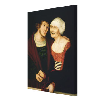The Infatuated Old Woman Canvas Print