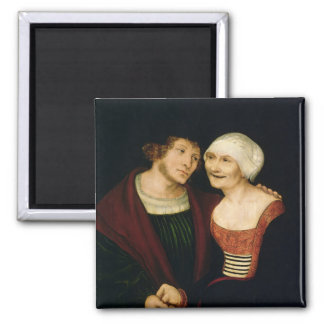 The Infatuated Old Woman Square Magnet