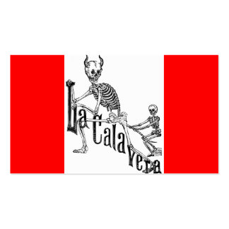 The Infernal Calavera. Circa late 1800's Pack Of Standard Business Cards
