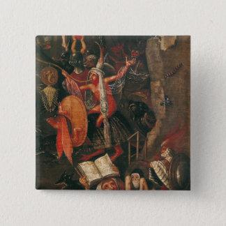 The Inferno 15 Cm Square Badge