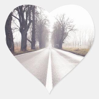 The Infinity Road Heart Sticker