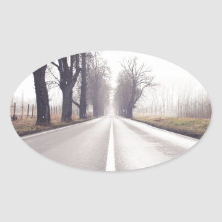 The Infinity Road Oval Sticker