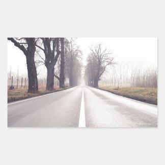 The Infinity Road Rectangular Sticker
