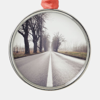 The Infinity Road Silver-Colored Round Decoration