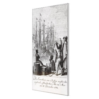 The Inhabitants of Boston Throw Canvas Print