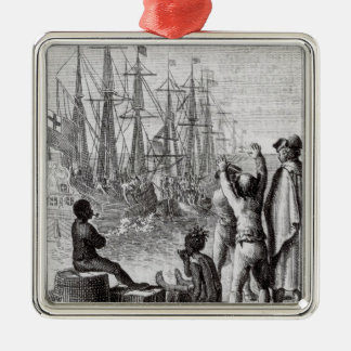The Inhabitants of Boston Throw Christmas Ornament