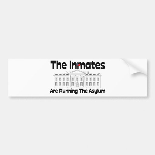 The Inmates Are Running The Asylum Bumper Stickers