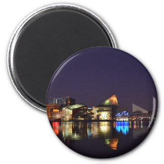 The Inner Harbor of Baltimore at Night Magnet