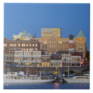 The inner harbour at Victoria British Columbia Large Square Tile