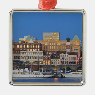 The inner harbour at Victoria British Columbia Silver-Colored Square Decoration