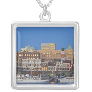 The inner harbour at Victoria British Columbia Square Pendant Necklace