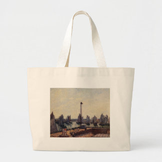 The Inner Port and Pilots Jetty, Havre by Camille Jumbo Tote Bag