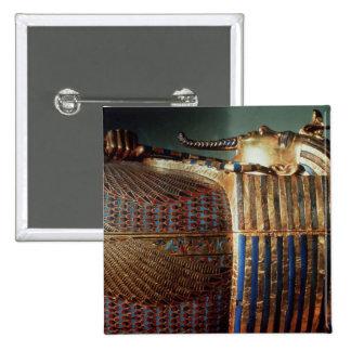 The innermost coffin of Tutankhamun 15 Cm Square Badge