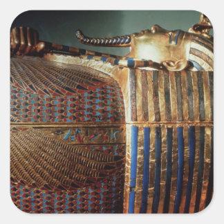 The innermost coffin of Tutankhamun Square Sticker