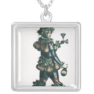 The Innkeeper, allegorical costume design Silver Plated Necklace
