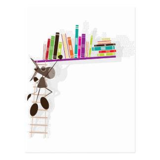 The Intellectual Donkey seaching a book Postcard