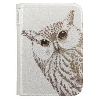 The Intellectual Owl - typography art Case For The Kindle