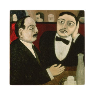 The Intellectuals at the Cafe Rotonde, 1916 Maple Wood Coaster