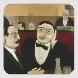 The Intellectuals at the Cafe Rotonde, 1916 Square Sticker
