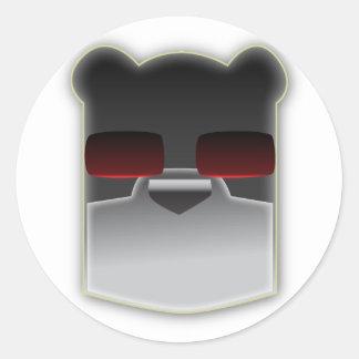 The Intelligent Bear Round Sticker
