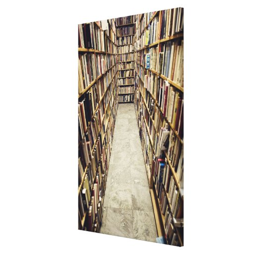 The interior of a second-hand bookshop Sweden. Stretched Canvas Print