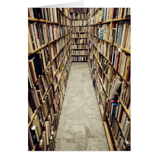 The interior of a second-hand bookshop Sweden. Greeting Card