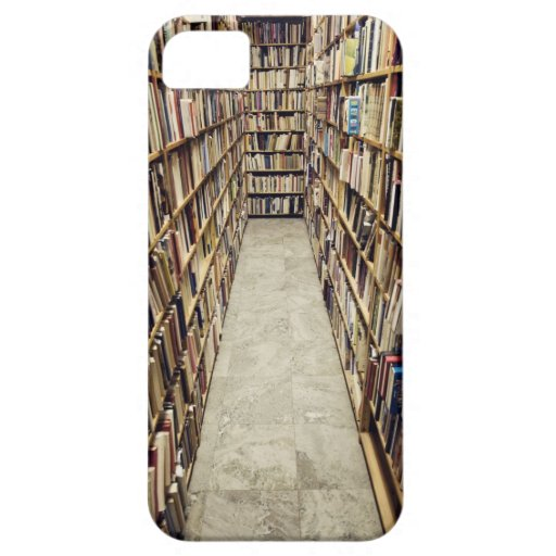 The interior of a second-hand bookshop Sweden. iPhone 5 Case