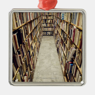 The interior of a second-hand bookshop Sweden. Christmas Ornament