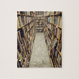The interior of a second-hand bookshop Sweden. Jigsaw Puzzle