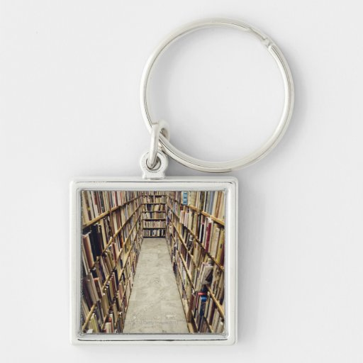 The interior of a second-hand bookshop Sweden. Keychains