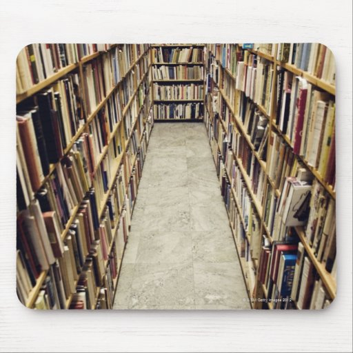 The interior of a second-hand bookshop Sweden. Mouse Pad