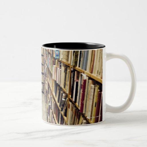 The interior of a second-hand bookshop Sweden. Mug