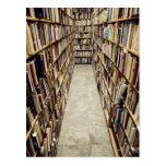 The interior of a second-hand bookshop Sweden. Postcard