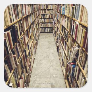 The interior of a second-hand bookshop Sweden. Square Sticker